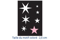 """Pochoir auto-adhésif repositionnable """"Etoiles"""" - Pochoir Adhésifs – 10doigts.fr"""