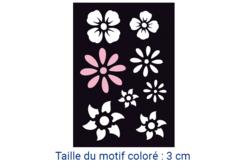 "Pochoir auto-adhésif repositionnable  ""Fleurs"" - Pochoir Adhésifs – 10doigts.fr"