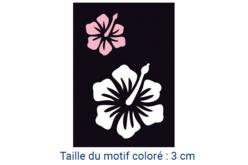 "Pochoir auto-adhésif repositionnable ""Hibiscus"" - Pochoir Adhésifs – 10doigts.fr"