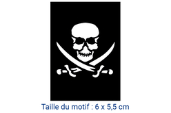 "Pochoir auto-adhésif repositionnable ""Pirate"" - Pochoir Adhésifs – 10doigts.fr"
