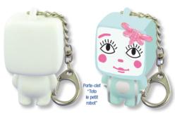 """Porte-clefs """"Toto Le Petit Robot"""" - Support blanc – 10doigts.fr"""