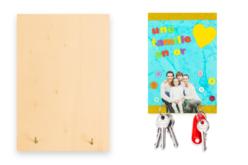 Porte-clés mural en bois - Plaques de porte – 10doigts.fr