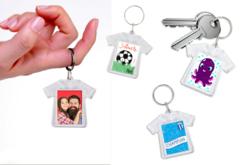 """Porte-clés """"T-shirt"""" - Lot de 2 - Plastique Transparent – 10doigts.fr"""