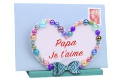 Porte-courrier coeur en bois - Range-courrier – 10doigts.fr