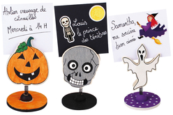 Porte Photo ou Mémo Halloween en bois - Halloween – 10doigts.fr