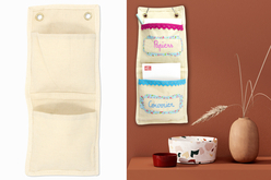 Range-courrier en coton - Support textile à customiser – 10doigts.fr