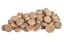 Rondelles en bois flotté - environ 550 rondelles - Bois – 10doigts.fr
