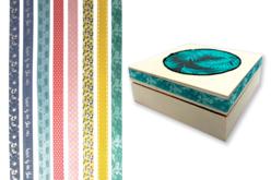 Rubans tissu adhésifs, motifs assortis - 8 bandes - Rubans, cordons – 10doigts.fr