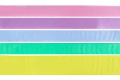 Rubans couleurs pastel - Set de 5 - Rubans et ficelles – 10doigts.fr