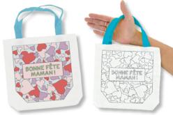 """Sac à colorier """"Bonne Fête Maman"""" - Supports textile – 10doigts.fr"""