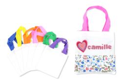 Petits sacs en coton blanc - Set de 24 - Coton, lin – 10doigts.fr