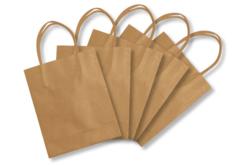 Sacs en papier kraft naturel - Papiers cadeaux – 10doigts.fr