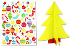 Sapin 3D à décorer avec des gommettes - Gommettes de fêtes – 10doigts.fr