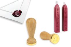 Sceau coeur + 2 bâtons de cire - Tampons – 10doigts.fr