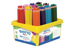 Crayons de couleur taille Maxi - GIOTTO Méga - Crayons de couleurs – 10doigts.fr