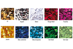 Sequins brillants à la couleurs - Lot de 1200 ou 12000 pcs - Sequins – 10doigts.fr
