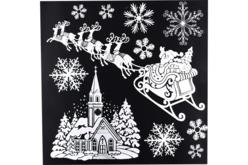 Stickers repositionnables pailletés de Noël, pour fenêtres - Décoration des vitres pour Noël – 10doigts.fr