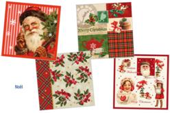 """Set de 12 serviettes """"Noël"""""""