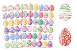 Gommettes œufs de Pâques aquarelle - 4 planches - Décorations et accessoires de Pâques – 10doigts.fr