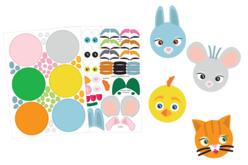 Gommettes animaux rigolos  - Expressions et Visages autocollants – 10doigts.fr