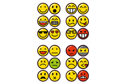 Stickers Smiley - Gommettes fantaisie – 10doigts.fr