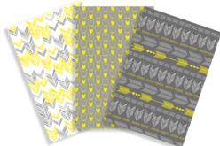 Papiers à encoller motifs géométriques - 3 feuilles - Papiers à vernis-coller – 10doigts.fr