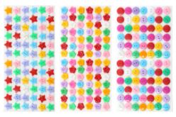 Boutons adhésifs formes assorties - 300 pièces - Boutons – 10doigts.fr