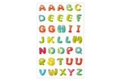 Stickers 3D alphabet en plastique - Set de 35 - Stickers de fêtes – 10doigts.fr