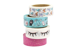 Masking tape kawai - Set de 4 - Masking tape – 10doigts.fr