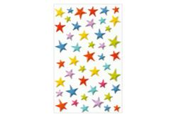 Set de 46 stickers 3D étoiles en plastique
