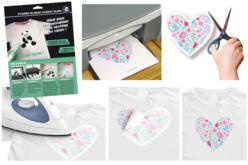 Papier transfert pour textile clair - 5 feuilles - Peintures pour Tissu – 10doigts.fr