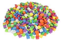 Mosaïques colorées en mousse - 500 carrés - Nouveautés – 10doigts.fr