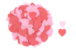 Cœurs en papier de soie rouge et rose - 5000 pièces - Papiers de soie – 10doigts.fr