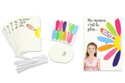 Cartes marguerite à message - 6 Cartes - Kits activités carteries – 10doigts.fr