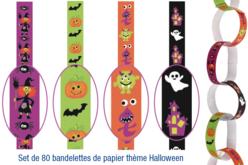 Bandelettes de papier Halloween - Set de 80 - Halloween – 10doigts.fr
