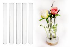 Soliflores en verre et béton