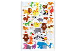 Stickers animaux 3D - 34 stickers - Décorations Animaux – 10doigts.fr