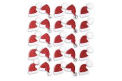 Stickers pailletés bonnet de Père Noël  - Set de 25 - Gommettes et stickers Noël – 10doigts.fr