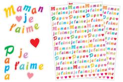 stickers papa et maman je t'aime