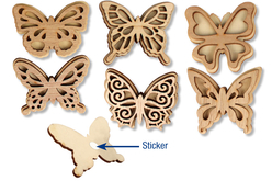 Stickers papillon assortis - Pinces à linge fantaisie – 10doigts.fr