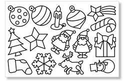 Stickers transparents à colorier Noël - Gommettes et stickers Noël – 10doigts.fr