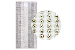 Stickers strass facettés argent - 1292 strass - Strass autocollant, cabochons autocollant – 10doigts.fr