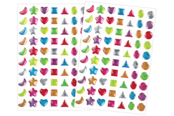 Strass adhésifs couleurs acidulées - 140 strass - Stickers strass, cabochons – 10doigts.fr