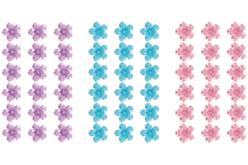 Bande de strass adhésifs fleurs - 225 strass - Stickers strass, cabochons – 10doigts.fr