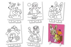 Tableaux carte à sabler - Set de 5 - Sables colorés – 10doigts.fr