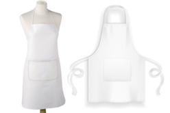 tablier blanc coton