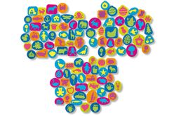 Set de 102 tampons en caoutchouc mousse multi thèmes - Tampons – 10doigts.fr