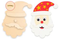Tête de Père-Noël en bois à décorer - Noël – 10doigts.fr