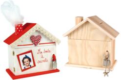 Tirelire maison en bois - Tirelires – 10doigts.fr