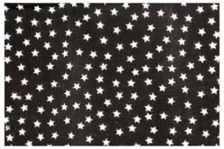 Coupon en coton imprimé : étoiles blanches + fond noir - Coton, lin – 10doigts.fr